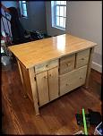 FS: Wooden Kitchen Island - 0-img_8014-jpg