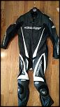 Fs practically new leather suit and new unused back protector-img_20170722_082727-jpg