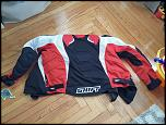 Shift textile jacket, Large, Red white and black-20180422_142020-jpg