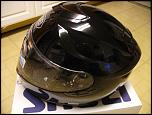 NEW IN BOX, LARGE SHOEI GT-AIR HELMET, BLACK W/ INTERNAL SUN SHIELD-helmet-jpg