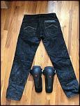 Dainese Riding Jeans (EVO D1) + Kit J Knee Armor - Size 33 - 0-img_1035-jpg