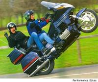 even the occasional loft of the front wheel, all those who enjoy wheelies sign up so we can see who we are....